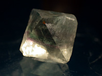 Octahedron of chinese fluorite